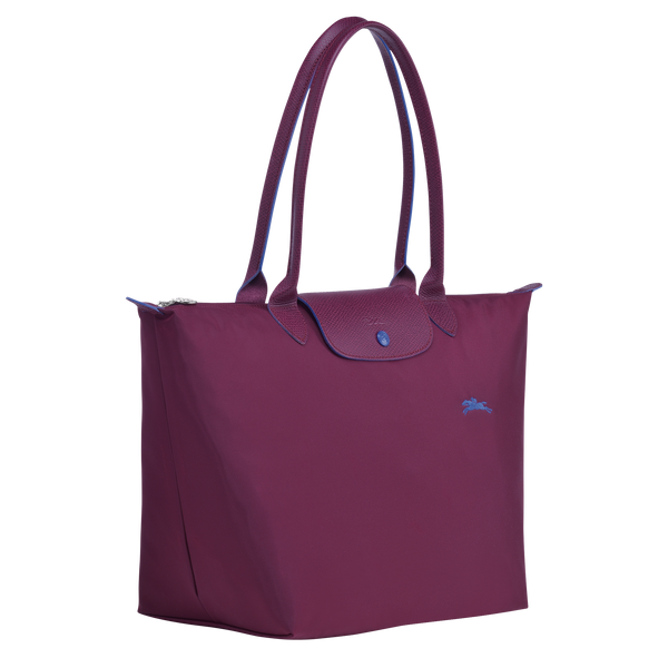 Le Pliage Club Top Handle Bag L in Plum - Side - L1899619P22