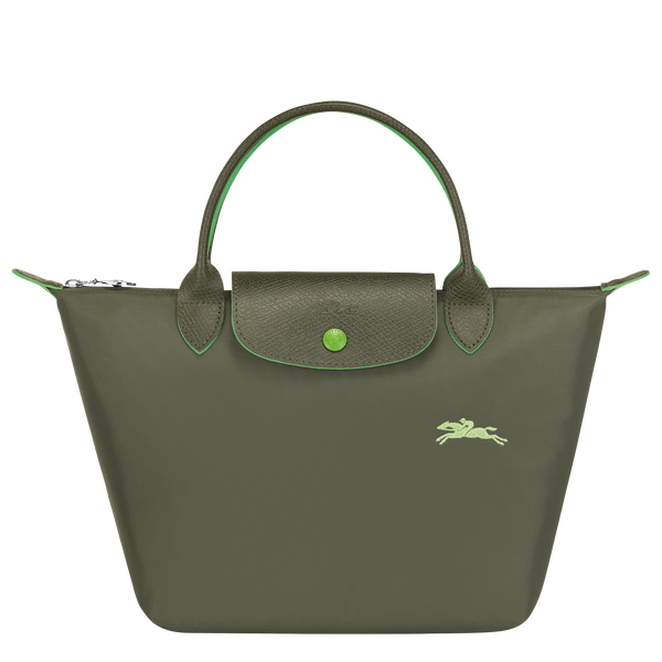 Le Pliage Club Top Handle Bag S in Forest - Front - L1621619549