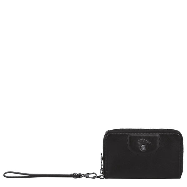 Le Pliage Cuir Compact Wallet in Black - 1 - L3622757001