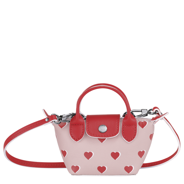 Valentine's Limited Edition - Le Pliage Cuir Crossbody Bag XS in Pinky - Front - 10099HUPA26