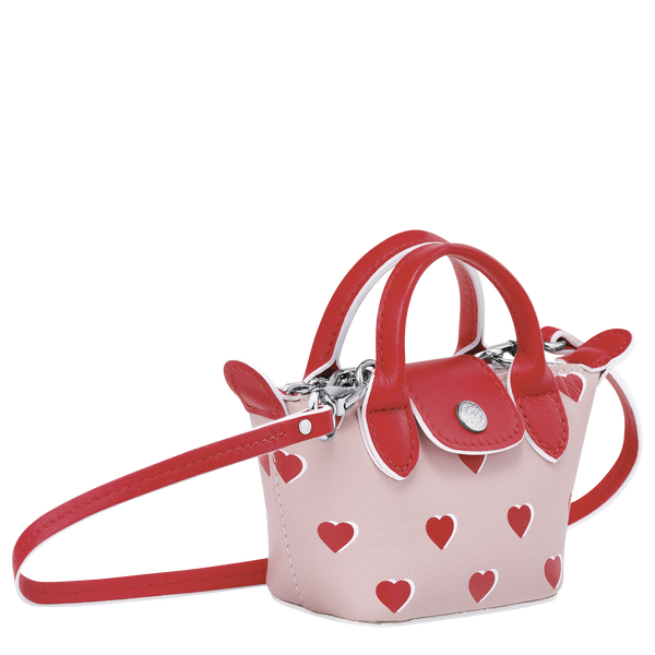 Valentine's Limited Edition - Le Pliage Cuir Crossbody Bag XS in Pinky - Side - 10099HUPA26