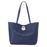Longchamp Cavalcade Shoulder Bag in Navy - Front - L1378HNA006