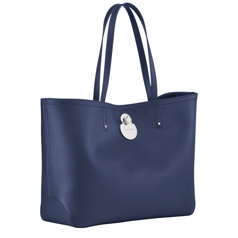 Longchamp Cavalcade Shoulder Bag in Navy - Side - L2686HNA006