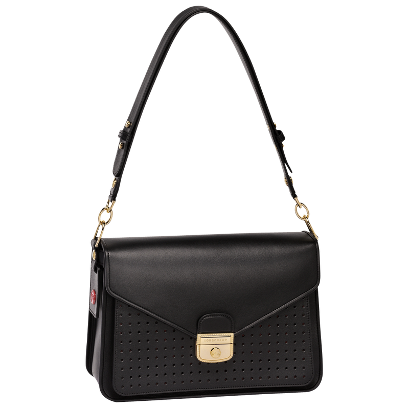 Longchamp Mademoiselle Longchamp Shoulder Bag M in Black - Front - L1324883001