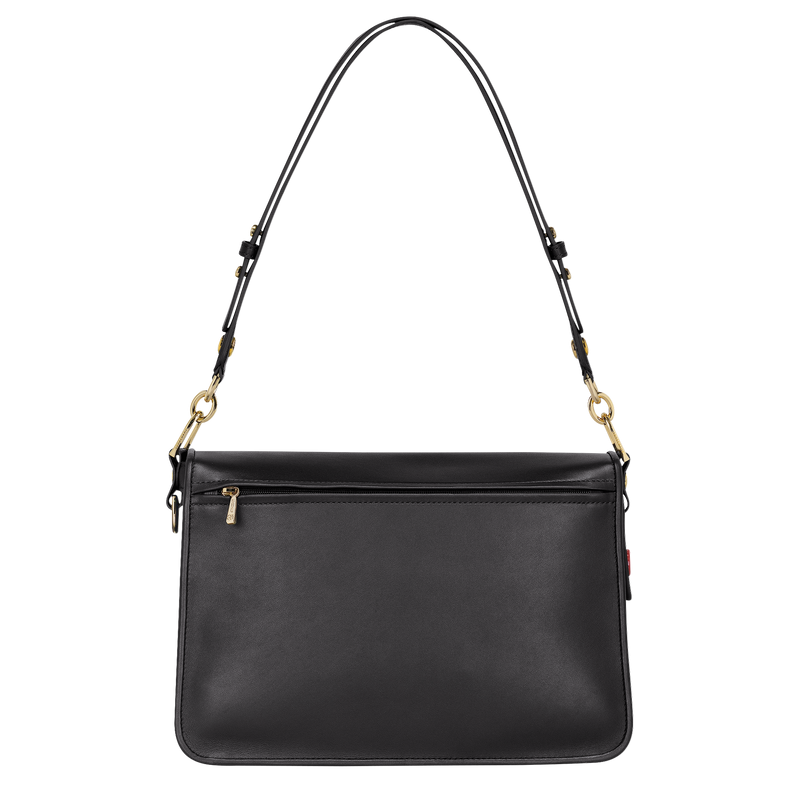 Longchamp Mademoiselle Longchamp Shoulder Bag M in Black - Back - L1324883001