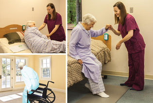 smart caregiver bed, chair, floor fall monitors