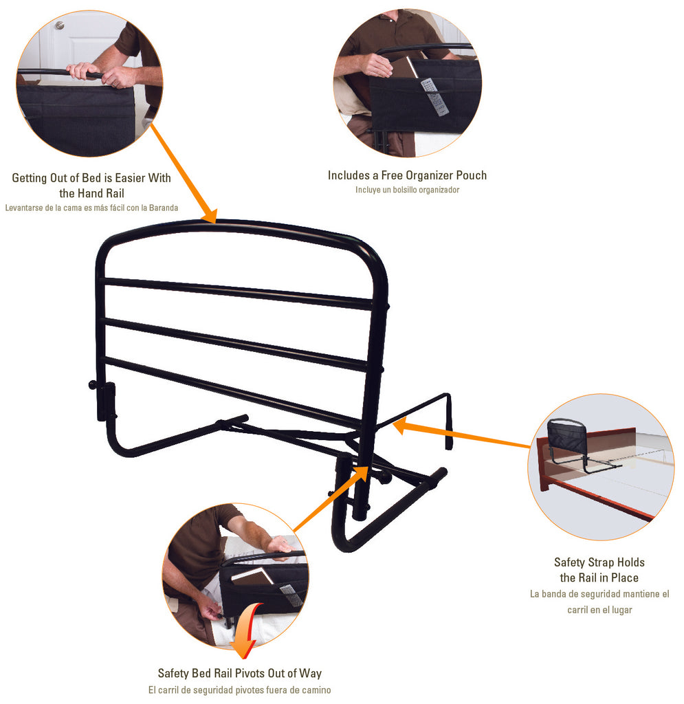 8050 Stander 30 inch safety rail diagram