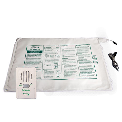 "BBR1-SYS Basic Fall Monitor and 10"" x 30"" Bed Pad"