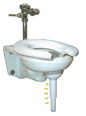 Big John Original Support for Wall-Mounted Toilets Model Number 612011919