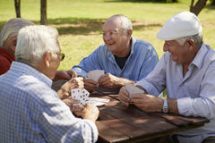 Seniors Playing Bridge in The Park