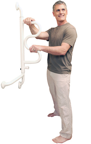 9000 Stander Curved Pivoting Grab Bar Standing