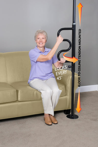 1100 Stander Security Pole & Curve Grab bar