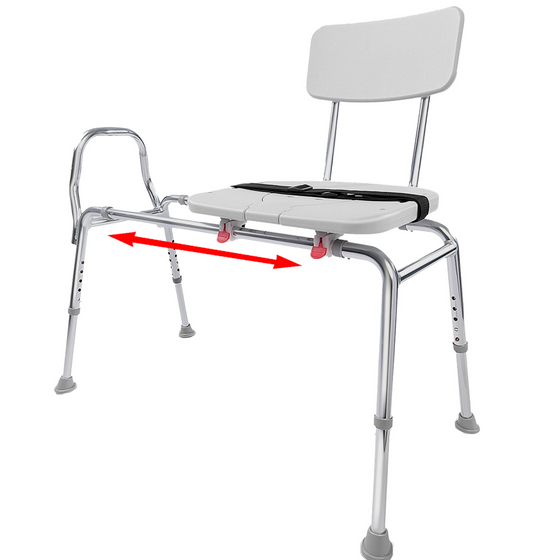 Eagle Health - Sliding Transfer Bench & Cut-Out Seat - Regular - 77311