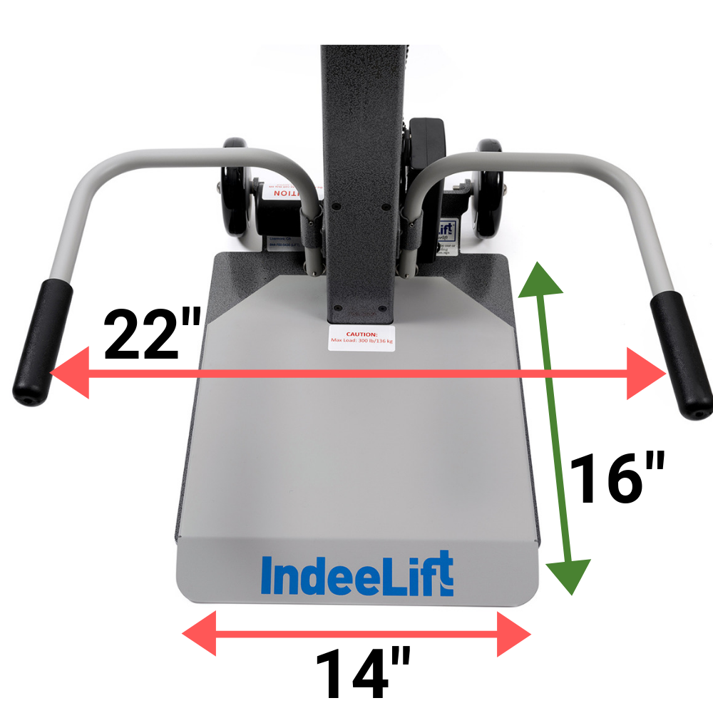 IndeeLift HFL-300 Seat Dimensions