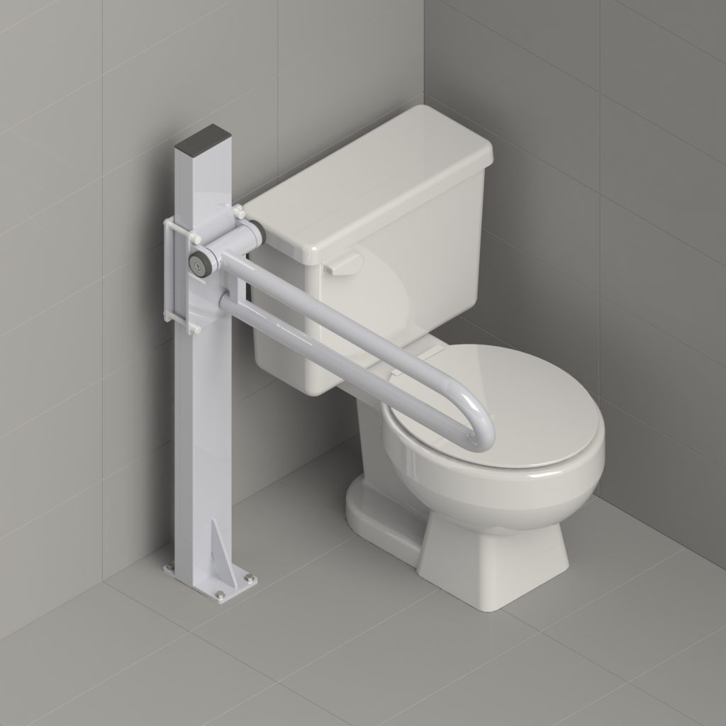 healthcraft products pt rail - toilet diagram