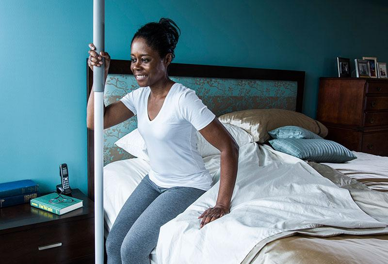 superpole bariatric woman in bedroom