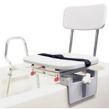 Eagle Health Snap-N-Save Sliding Tub Mount Transfer Bench with Swivel Seat