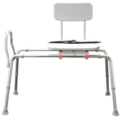 Sliding Transfer Bench with Swivel Seat & Back