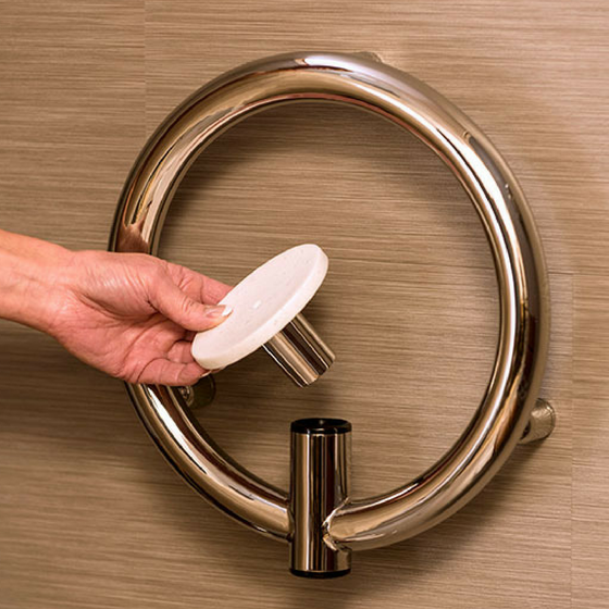 Invisia - 2-in-1 Soap Dish with Integrated Circular Grab Bar