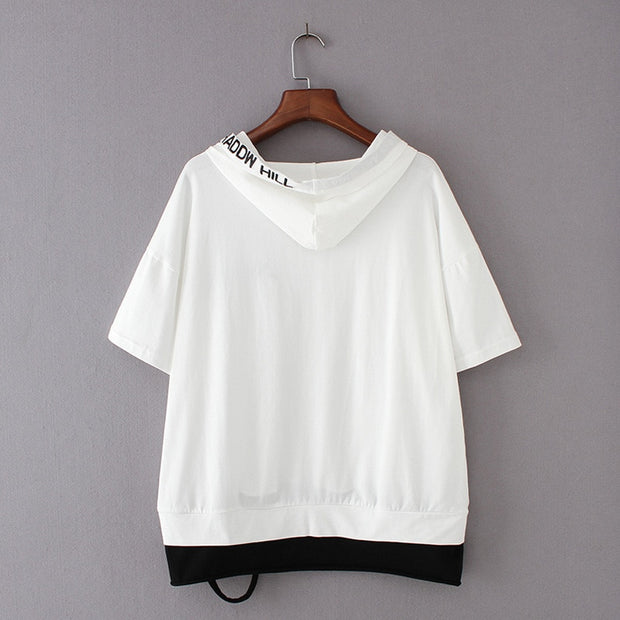 Streetwear Hooded Short Sleeve