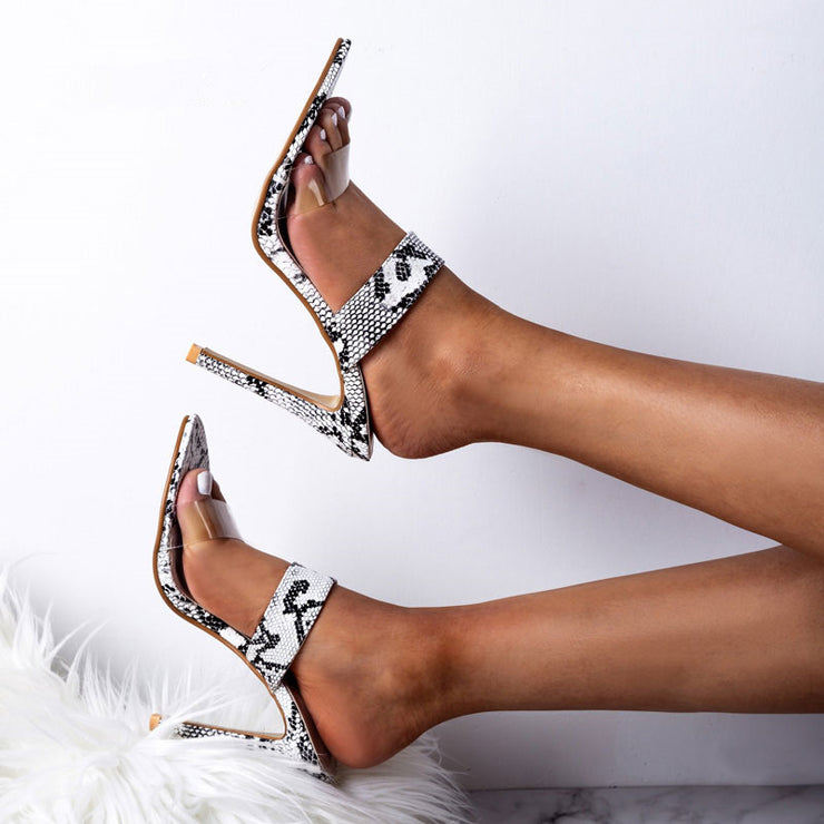 Animal Print High Heel Sandals