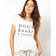 Dogs, Books & Coffee Graphic Tee