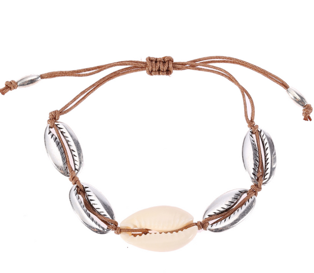 Shell Choker And Bracelet Set