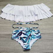 High Waist Ruffles Bikini Set