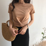 Front Knot Cropped Top
