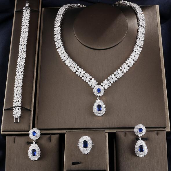 Water Drop Luxury Ice Jewelry Set
