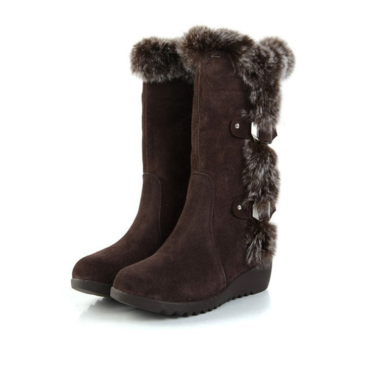 Classic Suede Thick Fleece Snow Boots