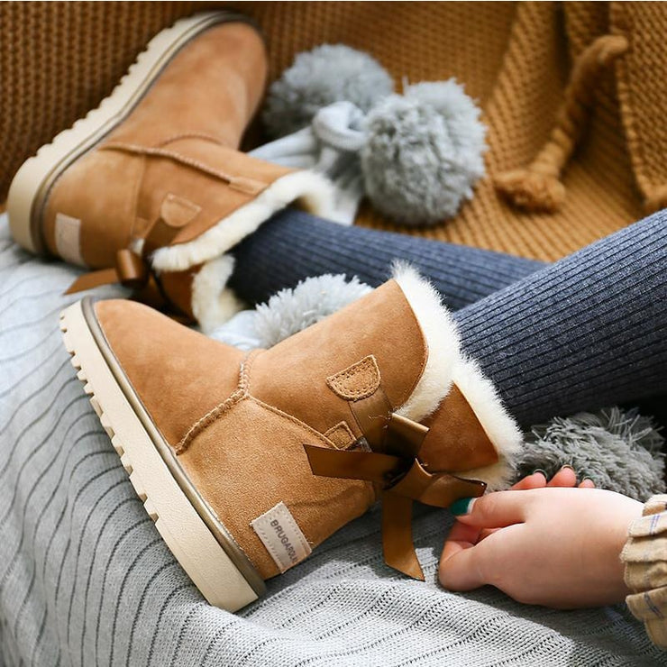 Australia Suede Leather Flat Winter Boots