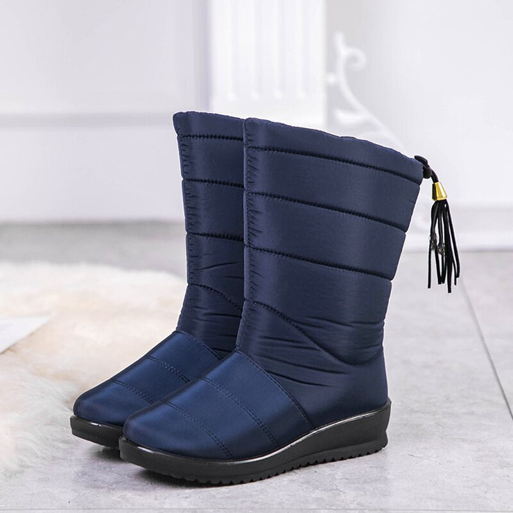 Mid-Calf Waterproof Wedge Boots