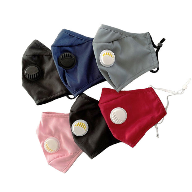 Reusable Cotton Mask With Breathing Valve Respirator