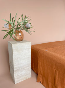 Linen Fitted Sheet - Outback