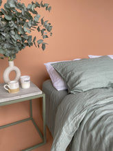 Load image into Gallery viewer, Linen Flat Sheet - Eucalyptus
