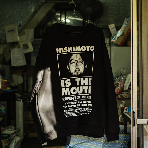 NISHIMOTO IS THE MOUTH CREW-NECK SWEAT SHIRTS NIM-L14 BLACK