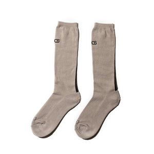 "COMMON SOX  LONG SOCKS""LINE"" CSR-001 BEIGE"