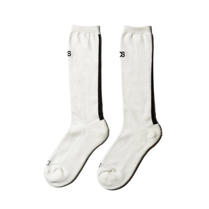 "COMMON SOX  LONG SOCKS""LINE"" CSR-001 WHITE"