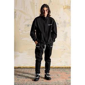 先行予約|NUMBER (N)INE × COMMON BASE  SWEAT STAND-NECK JACKET + SWEAT PANTS (SET-UP) NNCBI-03 BLACK×WHITE
