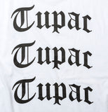 2PAC 3LOGOS SHORT SLEEVES T-SHIRT TPCB-006 WHITE
