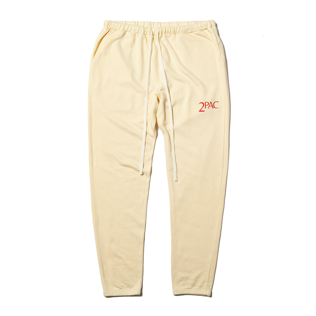 2PAC SWEAT PANTS TPCB-003 CREAM