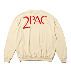2PAC SWEAT SHIRTS TPCB-002 CREAM