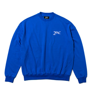 2PAC SWEAT SHIRTS TPCB-002 BLUE