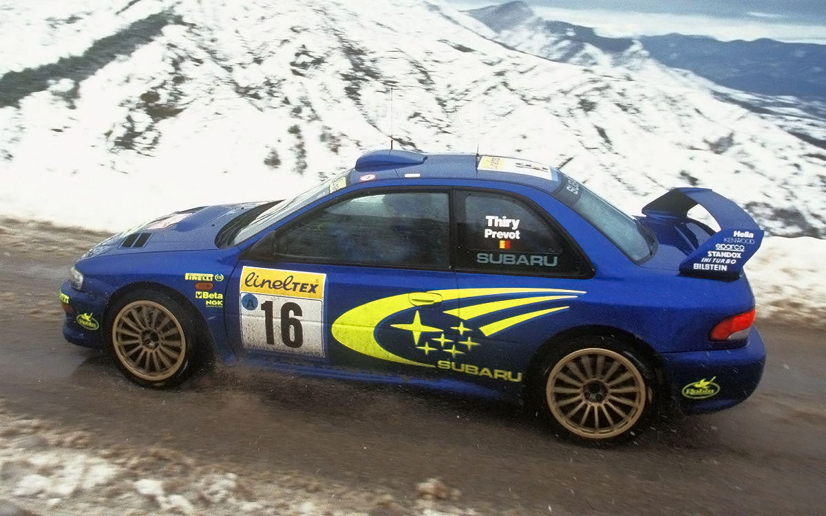 Subaru rally car BILSTEIN