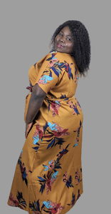 Plus size ana floral print maxi dress