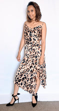 Load image into Gallery viewer, Leopard print satin slip dress