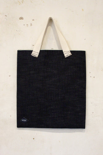 Selvedge Denim Tote Bag with Natural Cotton Straps