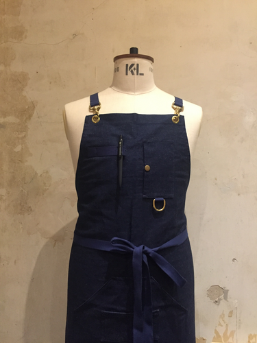 Denim Apron with Brass fittings