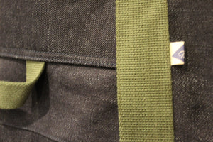 Selvedge Rigger Bag Deatil Olive
